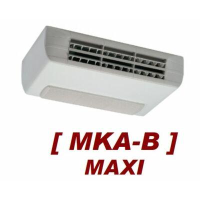 GO-Tec MKA-B Maxi fan-coil, 2 csöves, mennyezeti, burkolatos, alsó beszívású, (Q.tot.h:2,4 kW, Q.f: 2.1 kW) EC motorral, 4VR hőcserélővel